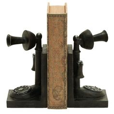 I pinned this Telephone Bookend (Set of 2) from the Steampunk Lounge event at Joss and Main!