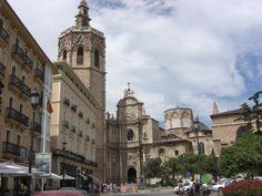 La Catedral de Valencia en la plaza de la Reina,Valencia , Spain