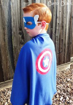 Cutesy Crafts: Appliqued Superhero Capes - also patterns for the masks