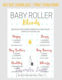Different Types of Citrus Oils and Their Benefits - PLEASE READ ALL INFORMATION BELOW 🙂 This baby roller recipe card with Young Living essential oils is a wonderful resource for essential oil users! Essential Oils For Babies, Doterra Essential Oils, Young Living Essential Oils, Essential Oil Diffuser, Essential Oil Blends, Gentle Baby Essential Oil, Essential Oils For Teething, Essential Oils For Pregnancy, Essential Oil Bug Spray