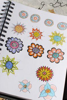 Art Journal - Zenspirations Simple Circle Designs-- Love it!
