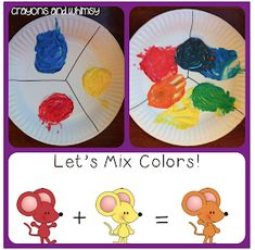Our True Colors: Start your school year learning about colors! And what a great time to add in a little science fun with a color mixing activity that works well when reading Mouse Paint. Kindergarten Colors, Preschool Colors, Preschool Art, Preschool Activities, Preschool Centers, Library Activities, Kindergarten Lessons, Painting Lessons, Painting For Kids
