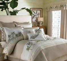 Croscill Fiji King Comforter Set by Croscill Bedding : The Home Decorating Company Palm Tree Bedding, Tropical Bedding, Bedroom Themes, Bedroom Decor, Bedroom Ideas, Master Bedroom, Bedroom Designs, Dream Bedroom, Modern Bedroom