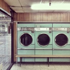 Barbican.   Original Laundromat — Blair Thomson  Reminds me of the laundromat in   Battle Mountain, NV