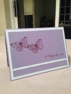 'So happy for you' Stampin Up / DSP / Butterfly's