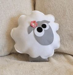 pillow...teeny tiny feltie...  OMY the cutest sheep EVER!!!!