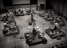 Hans Zimmer recording a drum circle for the Man of Steel soundtrack.