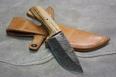 Full Tang Fixed Blade Hunting Knife with by HeirloomCraftsman