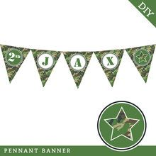 Camo Party Pennant Banner (Digital File)
