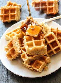 Melt-In-Your-Mouth Homemade Waffles. - Doubled the recipe, using just over 5 cups of AP flour (no almond meal). SO GOOD! This is the recipe I'll be using from now on.