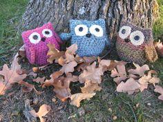 crochet owls - amigurumi