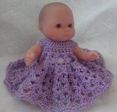 Doll S Dress Crochet Pattern For Baby Dolls Amp Teddy Bears