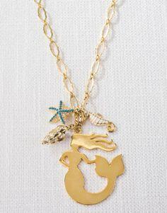 "Spartina Jewelry Mermaid Charm Necklace 30"""