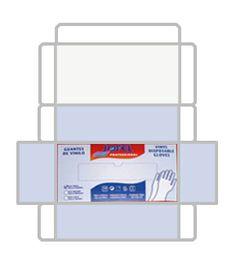 Imprimible de cajas de guantes de latex en miniatura