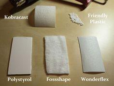 The Thermoplastic Theorie -  thermoplastic materials: Fossshape, Kobracast, Polystyrol, Wonderflex and Friendly Plastic.