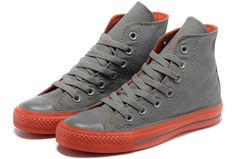2013 Newest Converse All Star Chucks Dazzle Lovers Sneakers High Tops Grey Orang [T2013052203] - $58.00 : Discount Converse All Star Sneakers Sale,Converse All Star Sandals,Comics and Womens Platform Sneakers