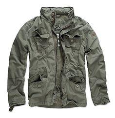 13a766f8596 Brandit Men s Britannia Vintage Military M65 Style Short Army Lightweight  Jacket Small Black