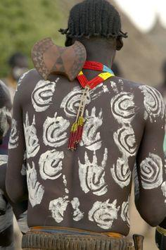 Africa   Karo man. Omo Valley, Ethiopia   ©Steve Turner