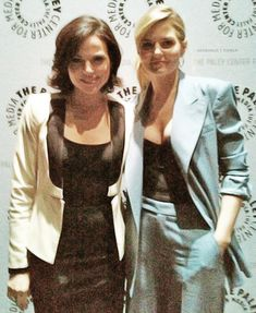 Lana Parrilla and Jennifer Morrison at the Paley Fest for Once Upon A Time