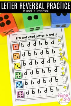 Many students struggle with letter reversals, especially b/d and p/q. Occasional letter reversal doesn't necessarily mean a child has dyslexia. Letter B Activities, Fluency Activities, Word Work Activities, Educational Activities, Phonics Lessons, Teaching Phonics, Teaching Reading, Teaching Resources, French Language Learning