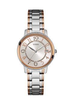 Kismet Silver & Rose Gold Bracelet Watch | £159 | Guess | Bejeweled At Soul