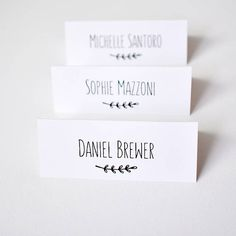 Place cards for wedding, personalised wedding table name tags, guest place setting, table name card, place cards, guest name cards
