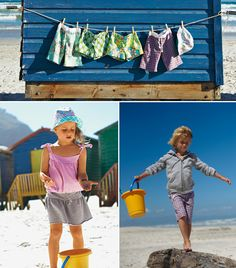 This children's collection from the July 2010 issue of BurdaStyle features sewing patterns for girls and boys as well as unisex patterns such as hats that are all perfect for a long day at the beach followed by a lazy evening of lounging.