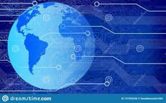 Map Background, Technology Background, Business Technology, Banner Vector, Continents, Globe, Abstract, Digital, World
