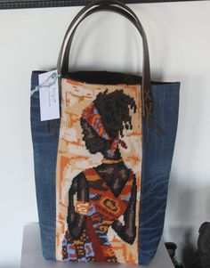 GO TO AFRICA  Tote bag in vintage tapestry by QuatreJanvier, €80.00