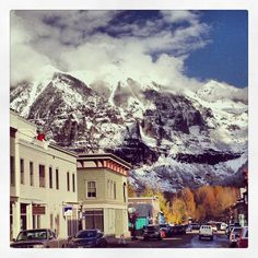 ❥ To Hell U Ride. Also known as Telluride, Colorado. Location of the first bank heist by Butch Cassidy and the Sundance Kid. Photo by Ann Schwarting Goodall.