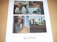 1964 ELIZABETH ARDEN Blue Grass Perfume Grasse France Morning Flowers Vintage Ad