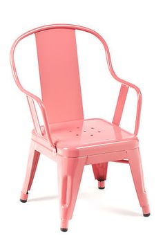 """2 """"Tolix Style"""" Marais Children's Chairs French Cafe Industrial Chairs in Pink!! 