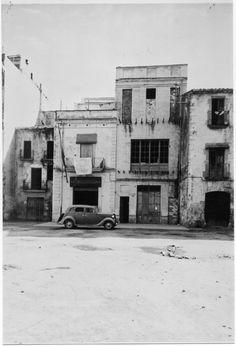 Façana del Pòsit de pescadors de Palamós ( Girona). 1942. MMB. 27651F MMB Costa, Street View, History, Pictures, Historia