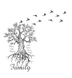 Trendy tree of life tattoo small art ideas You are in the right place about tattoo back Here we offe Tattoo Girls, Tattoo For Baby Girl, Family First Tattoo, Family Tattoos, Meaningful Tattoos For Family, Diy Tattoo, Tattoo Ideas, Compass Tattoo, Tatoo Bird