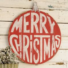 Merry Christmas Ornament Retro Wall Art by SlippinSouthern on Etsy