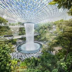 Modern Architecture - Changi Airport in Singapore by Safdie Architects [Future Architecture: http://futuristicnews.com/category/future-architecture/]