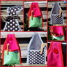 Sewing Lessons, Sewing Hacks, Sewing Tutorials, Fabric Crafts, Sewing Crafts, Sewing Projects, Washing Peg Bags, Diy Crafts Love, Clothespin Bag