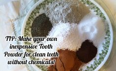 """Remineralizing Tooth Powder Recipe"" & Oral Health Regimen::  make your own inexpensive tooth powder for clean teeth without chemicals// looks cool. I'd love to try it."