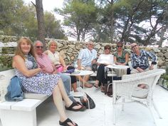 Relaxing in the sunshine pre dining al fresco with Get Away Sailing Croatia
