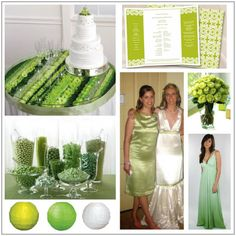 chartreuse wedding | Chartreuse & White : myecochicwedding.com