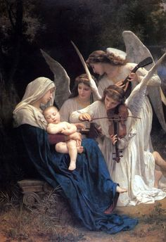 William-Adolphe Bouguereau    Meleklerin Şarkısı / Song of the Angels    1881. Tuval üzerine yağlıboya. 152.4 x 213.4 cm. Museum at Forest Lawn Memorial Park, Los Angeles.