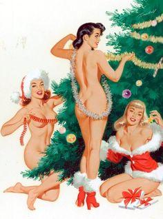 holiday pinups 1950's