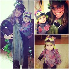 Babywearing Costume: Baby Owl in Tree! (Just the cutest mama and baby I know! I can't believe nanners is almost 1!)