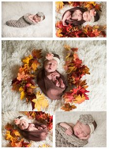 Evelyn Newborn Salem Oregon by Simply Pure Photography fall leaves, thanksgiving newborn photos, crochet baby cocoon