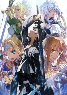 Sword Art Online Asuna, Sword Art Online Poster, Sword Art Online Wallpaper, Sao Anime, Manga Anime, Otaku Anime, Manga Girl, Anime Girls, Kunst Online