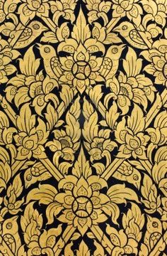Floral Pattern Of Traditional Thai Art