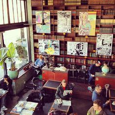 Scene from a hipster coffee shop in Seattle by Kayvon Tehranian, via Flickr