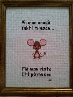 Funny Images, Funny Pictures, Guerrilla, Nye, Diy And Crafts, Funny Quotes, Cross Stitch, Embroidery, Humor