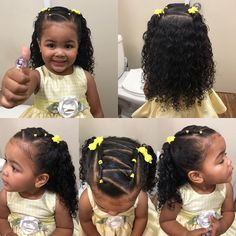 Mixed Baby Hairstyles, Cute Toddler Hairstyles, Kids Curly Hairstyles, Cute Little Girl Hairstyles, Natural Hairstyles For Kids, Natural Hair Styles, Girl Hair Dos, Mixed Hair, Toddler Braids