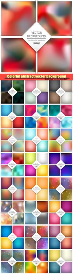 Multicolored abstract vector background art illustration template design